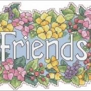 Dimensions 72552 Friends bouquet
